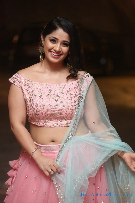 Chandni Bhagwanani Hot Photos In Pink Lehenga at VB Entertainments Vendithera Awards