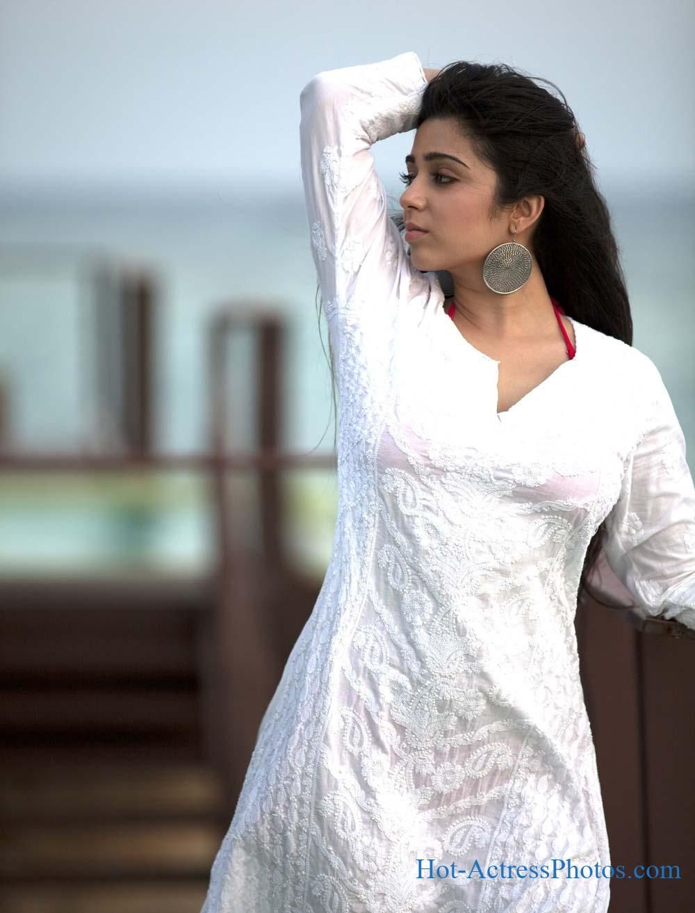 Charmi Kaur Hot Beach Photoshoot Stills