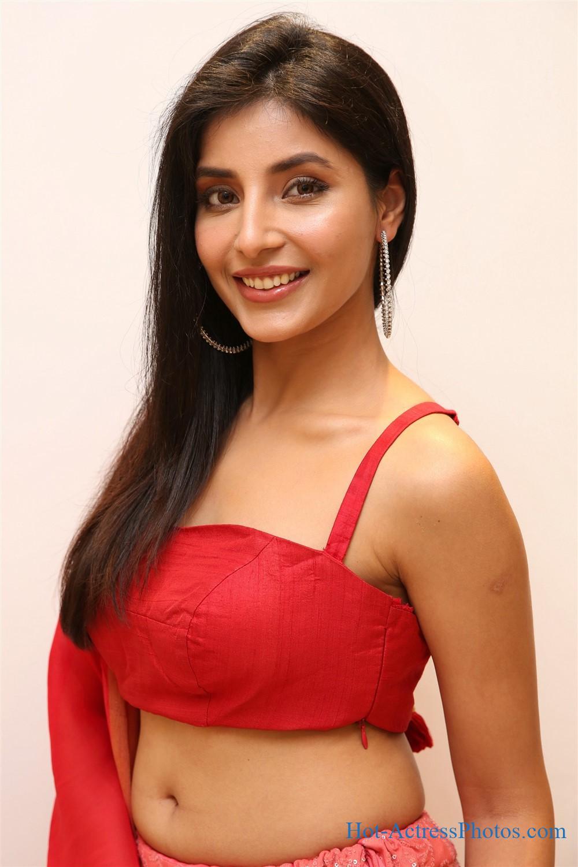 Harshita Gaur Hot Navel Photos In Red Dress at Q9 Fashion Studio Launch