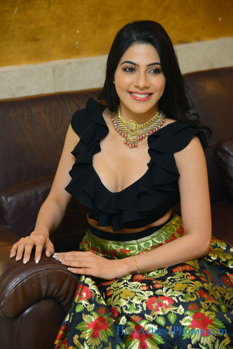 Nikki Tamboli Hot Cleavage Photos At Thippara Meesam Pre-Release Event