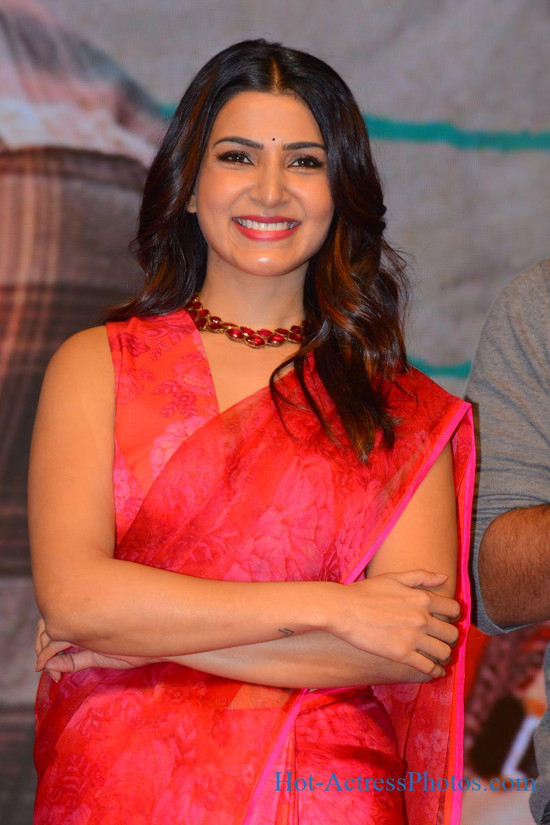 Samantha Hot Photos In Red Saree At Jaanu Movie Pre-Release Event