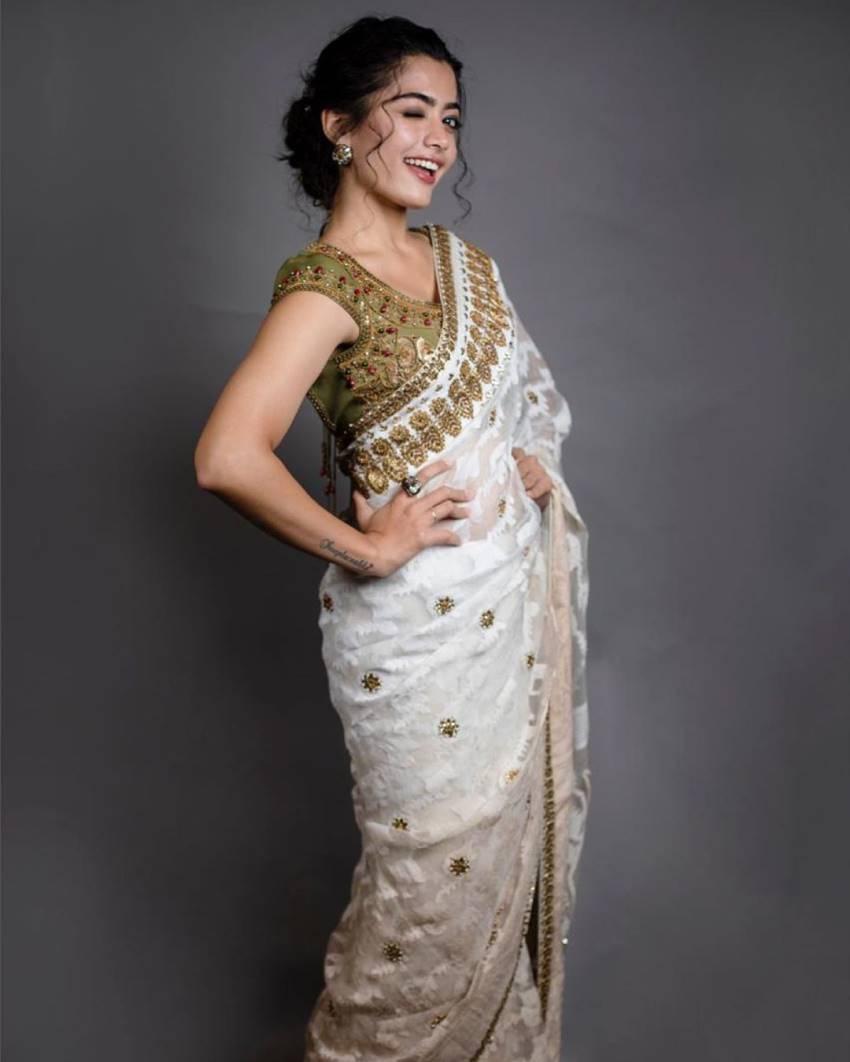 Rashmika Mandanna Hot Photos In Saree